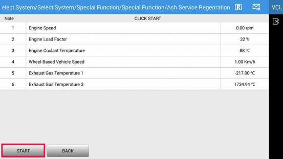 Caterpillar DPF Regeneration (Ash Service Regeneration