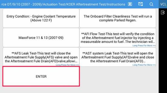 International DPF Regen (Onboard Filter Cleanliness) | FCAR