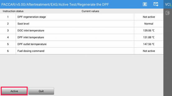 PACCAR MX DPF Regeneration | FCAR Tech USA